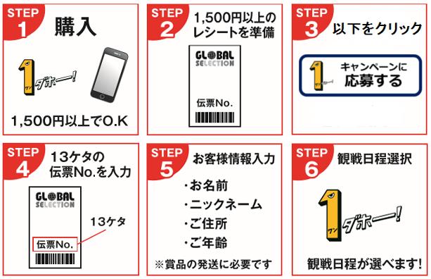 応募は簡単6ステップ